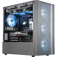Cooler Master MasterBox NR400 - Mini Tower - PC - Kunststoff - Stahl - Schwarz - Micro ATX,Mini-ITX  Cooler Master