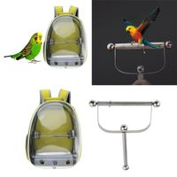 Parrot Training Edelstahl Ständer Rahmen \\u0026 Parrot Travel Outdoor Carrier