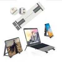 Tragbarer Notebook-Computerständer ,Handyhalterung, verstellbarer, faltbarer Notebook-Ständer Laptopständer (Weiß)