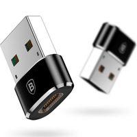 Baseus USB auf USB-C adapter - Schwarz
