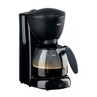 Braun KF560, Filterkaffeemaschine, Gemahlener Kaffee, 1100 W, Schwarz