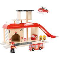 Small Foot World 10900 Feuerwehrwache mit Zubehör, 15-teilig (1 Set)