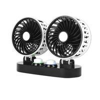 LTC Auto Ventilator Doppellüfter mit Zigarettenanzünder einstellbar Autozubehör