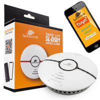Smart Home Rauchmelder WiFi, WLAN Smartphone APP, 85dB, 2x AAA Batterie, Alexa Google Home Tuya, Spacetronik SL-DS01