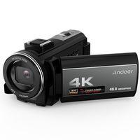 Andoer 4K Digitalkamera Camcorder Ultra HD 48MP WiFi 3,0 Zoll Touchscreen IR Infrarot Nachtaufnahme 16X Digitalzoom mit 1pc 2000mAh Akku