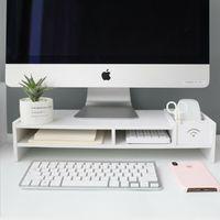 Monitorerhöhung Monitorständer Bildschirmständer Bildschirmerhöher Ständer 10cm TV Tisch Loungetisch Holz