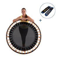 Ampel 24 Fitness Mini-Trampolin Ø 110 cm, mit 72 verstellbaren Elastobändern & Antirutsch-Socken