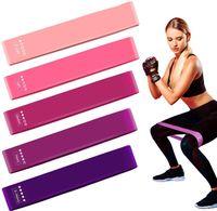 Widerstandsbänder [5er-Set] Fitnessband Gymnastikband 100% Naturlatex Thera Band mit Übungsanleitung und Tragetasche für Muskelaufbau, Yoga, Crossfit, Gymnastik usw