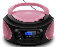 Cyberlux Tragbarer CD-Player Kinder Radio CD-Radio Stereoanlage Boombox pink