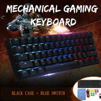 ANNE Pro 2 Gaming Tastatur Gateron Switch Mechanisch Tastatur LED RGB Beleuchtung USB-C Keyboard Schwarz