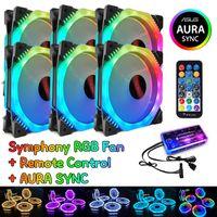 RGB Fan 5V Musik Rhythmus A-RGB Chassis Leise Lüfter AURA SYNC Kit Musical Control Wasser Kühler Benutzerdefinierte für Mod Einstellbare