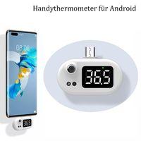 1x Tragbare Non-kontakt Infrarot stirn thermometer ,handy mini thermometer ,für Android  ,Weiß