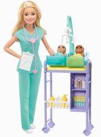 Barbie Kinderärztin Puppe (blond) und Spielset