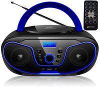 Ecosa CD-Player Stereoanlage Tragbares Kinder Radio Boombox Blau
