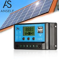 Sich selbst 20A 12.6V LCD Solar Ladegeraet PWM Ladekontrolle fuer Solar Panel Lithium Batterie Lampe ueberlastschutz