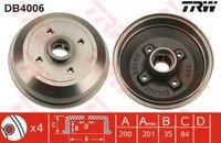 Trw Bremstrommel Hinterachse DB4006