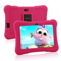 PRITOM K7 7 Zoll Kinder Tablet Android 10 Tablet PC 16 GB ROM Quad Core Tablets WiFi Tablet für Kinder,Rosa