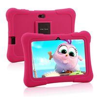 PRITOM K7 7 Zoll Kinder Tablet Android 10 Tablet PC 16 GB ROM Quad Core Tablets WiFi Tablet für Kinder,Rosa