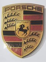 Original Porsche  Aufkleber Wappen Porschewappen Klebeschild WAP013002