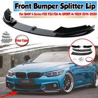 Audew Front Spoiler Lippe Spoilerlippe Schwert Splitter für BMW F32 F33 F36 4er M Sport 2014-2020