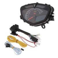1 Stück Motorrad Drehzahlmesser Motorrad-Tachometer LED-Hintergrundbeleuchtung-Tachometer