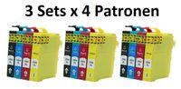 3 x Druckerpatronen-Set kompatibel mit Epson T29 XL, T2981-2984, T2991-2994, T2986, T2996 für Expression Home XP-235, XP-245, XP-247, XP-255, XP-257, XP-332, XP-335, XP-342, XP-345, XP-352, XP-355, XP-432, XP-435, XP-442, XP-445, XP-452, XP-455