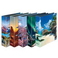 5x Herlitz Motivordner / DIN A4 / 80mm breit / 5 verschiedene Traumlandschaften
