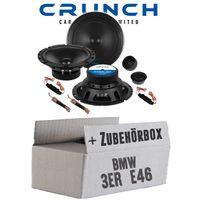 Lautsprecher Boxen Crunch GTS6.2C - 16cm 2-Wege System GTS 6.2C Auto Einbauzubehör - Einbauset für BMW 3er E46 - JUST SOUND best choice for caraudio