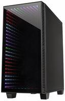 Inter-Tech X-608 Infinity Micro - Tower - PC - Glas - ITX,uATX - Gaming - Rot/Grün/Blau