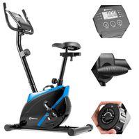 Hop-Sport Heimtrainer HS-2070 Onyx mit Pulssensoren und Computer Blau