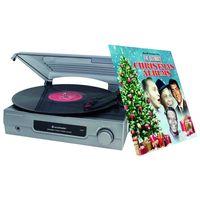Soundmaster PL200 Stereo-Plattenspieler mit Kopfhörerbuchse & Weihnachts-Platte