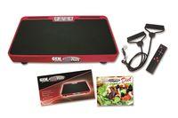 Gymform® Vibro Max Plus Vibrationsplatte Ganzkörper Trainingsgerät inkl. Trainingsbänder rutschfest 10 Programme Aus der TV Werbung