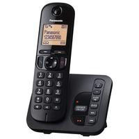Panasonic KX-TGC220EB Strahlungsarmes Schnurlostelefon mit Anrufbeantworter, Rufnummernanzeige, Freisprechfunktion, DECT