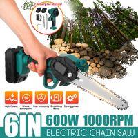 6Zoll Akku-Elektrokettensäge Holzschneider 600W Mini Einhand Holzbearbeitungswerkzeug