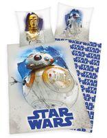 Star Wars Bettwäsche mit C3PO R2D2 BB8 80x80 + 135x200 cm 100% Baumwolle