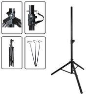 Dreibein Stativ BLACK ALU 150 cm max. höhe für Sat Schüssel bis 80cm Camping Balkon Tripod 3x Heringe