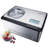 STEBA IC 180 Eismaschine Edelstahl/schwarz  2 l Volumen für bis zu 25 Kugeln Eis