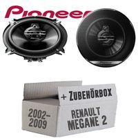Lautsprecher Boxen Pioneer TS-G1330F - 13cm 3-Wege 130mm Triaxe 250W Auto Einbausatz - Einbauset für Renault Megane 2 - JUST SOUND best choice for caraudio