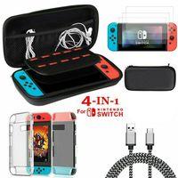 Accenter Für Nintendo Switch 9 in 1 Zubehör Set , EVA Tragetasche, PC Covers, HD Displayschutzfolie,2M Type C Ladekabel