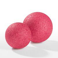 VITALmaxx 2x Faszienball 8cm & 10cm Faszientraining Massage WarmUp Rosa/Pink
