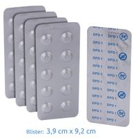 Blueborn 50 x DPD 1 Test-Tabletten Wassertest für freies Chlor in Pool & Schwimmbad Wasser