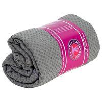 Yoga Handtuch rutschfest - Silikon - Grau