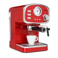 Klarstein Espressionata Gusto Espressomaschine, 1100 Watt, 15 Bar Druck, Volumen Wassertank: 1 Liter, abnehmbares Tropfgitter aus Edelstahl, spülmaschinenfeste Tropfschale, EasyBrewing Technology, bewegliche Aufschäum- und Heißwasserdüse, rot