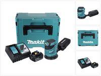 Makita DBO 180 RT1J Akku Exzenterschleifer 18 V 125 mm + 1x Akku 5,0 Ah + Ladegerät + Makpac