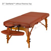 Master Massage 79cm Santana™ Mobile Massageliege Paket mit Memory Foam & Klappbarem Holzgestell-Zimt