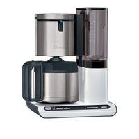 Bosch TKA8A681 Filterkaffeemaschine Styline, Farbe:Weiß-Edelstahl
