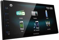 Kenwood DMX125DAB Doppel-DIN Moniceiver, 17,27 cm (6,8 Zoll) Display, Radio, DAB+, MP3-Wiedergabe, Mechaless, USB, Bluetooth
