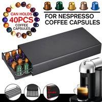 NEUFU Kaffee Kapsel Halter Kapselständer Kapselspender Schublade für Nespresso Kaffeekapseln, 40 Kapseln