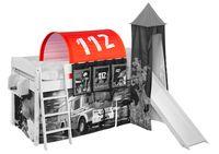 Tunnel Feuerwehr - für Hochbett, Spielbett und Etagenbett