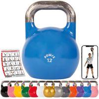 Competition Kettlebell 4 - 48 kg in Studioqualität I Kugelhantel inkl. Workout Gewicht: 12 kg - blau